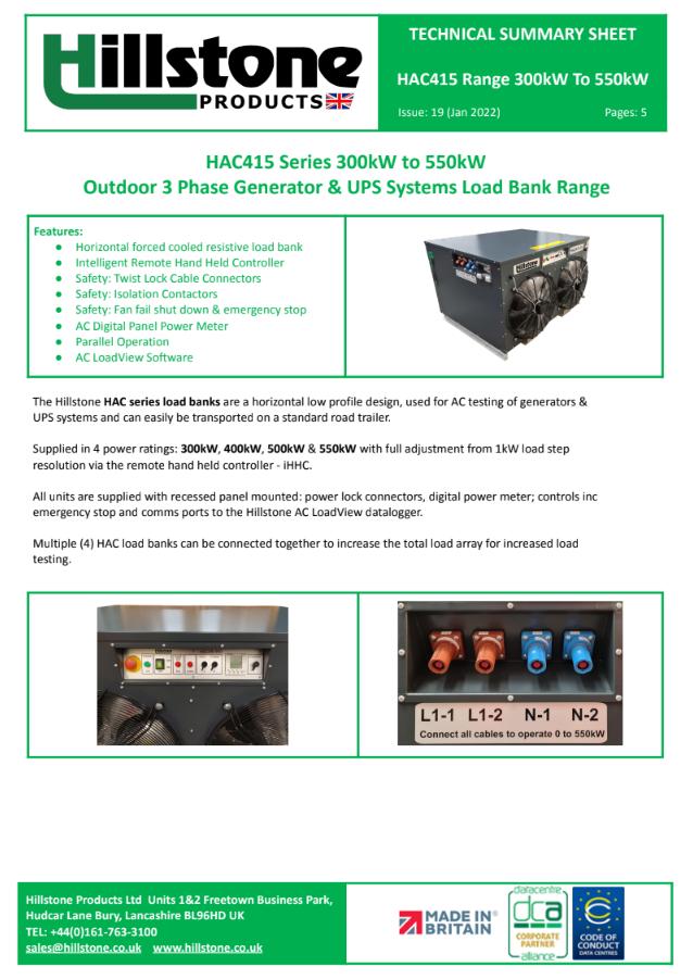 HAC415 300KW-500KW